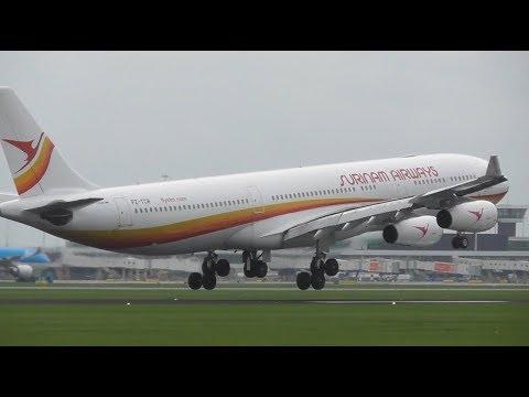 Plane Spotting at Amsterdam Schiphol Airport, AMS | Close Up landings, RW27