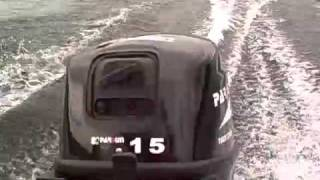Parsun 15HP demonstration - Lac Cayamant Quebec