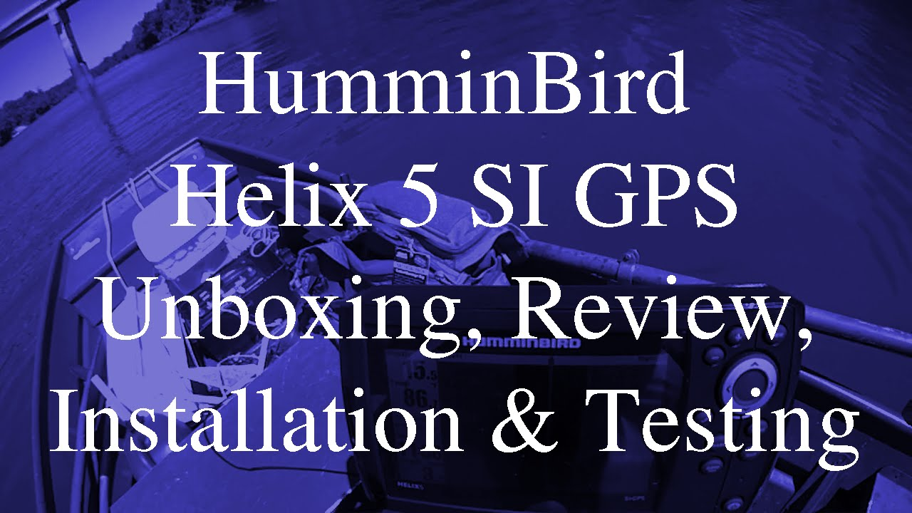 A look at the Humminbird Helix 5 DI fish finder - YouTube