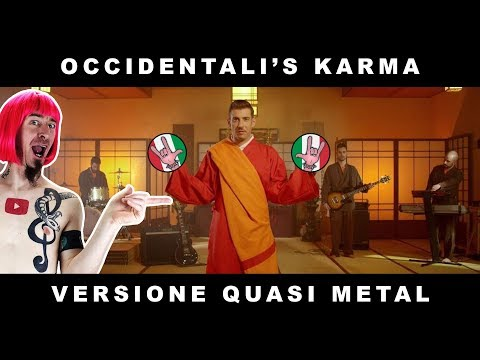 Occidentali's KARMA (Francesco Gabbani METAL COVER by ZE) [LYRICS/TRANSLATION in SUBTITLES]