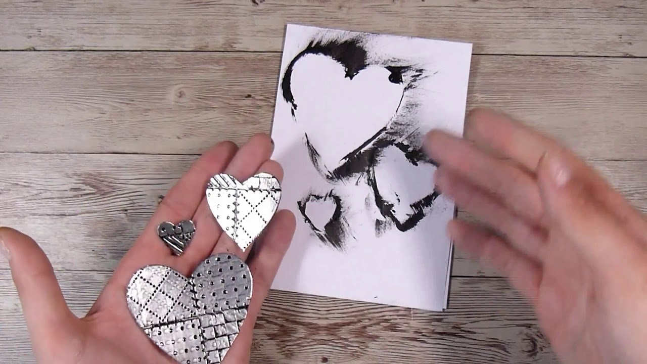 Embossing Tin Foil/Metal Technique in Card making