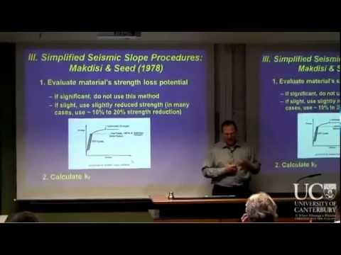 Prof. Jonathon Bray - Simplified Seismic Slope Displacement Procedures