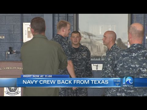 Local Navy squadrons return from Texas after rescuing hundreds