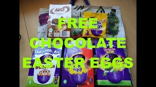 Unboxing Free Chocolate Easter Eggs (UK) 24th Feb 2018