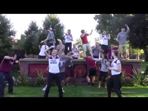 "Springfield College Campus Community Enjoying ""Shake It Off"""