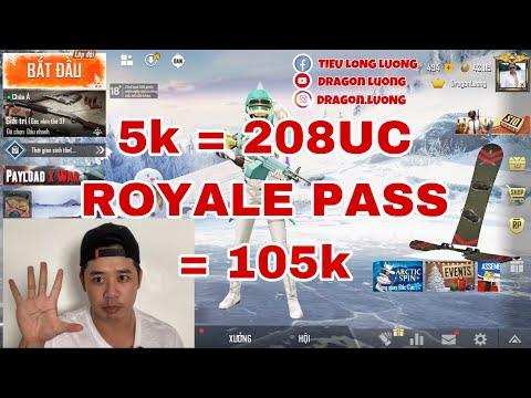 PUBG MOBILE - NÂNG ROYALE PASS CHỈ 105K - NẠP 208UC CHỈ 5K - Dragon Luong