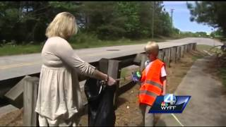 Upstate boy helps promote litter clean-up