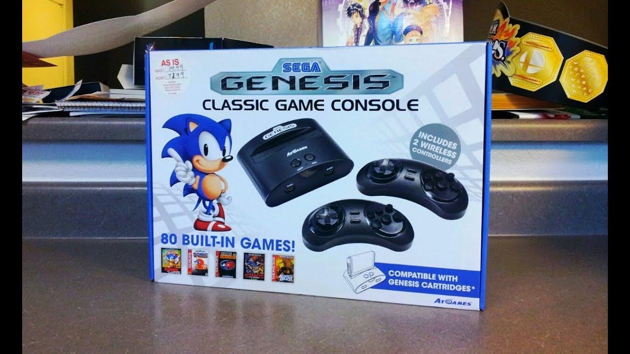 Unboxing 12 atgames sega genesis classic game console w - Sega genesis classic console with 80 built in games ...