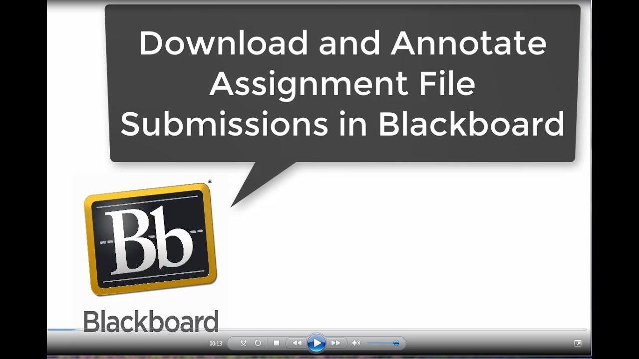 download and annotate assignment file submissions in blackboard