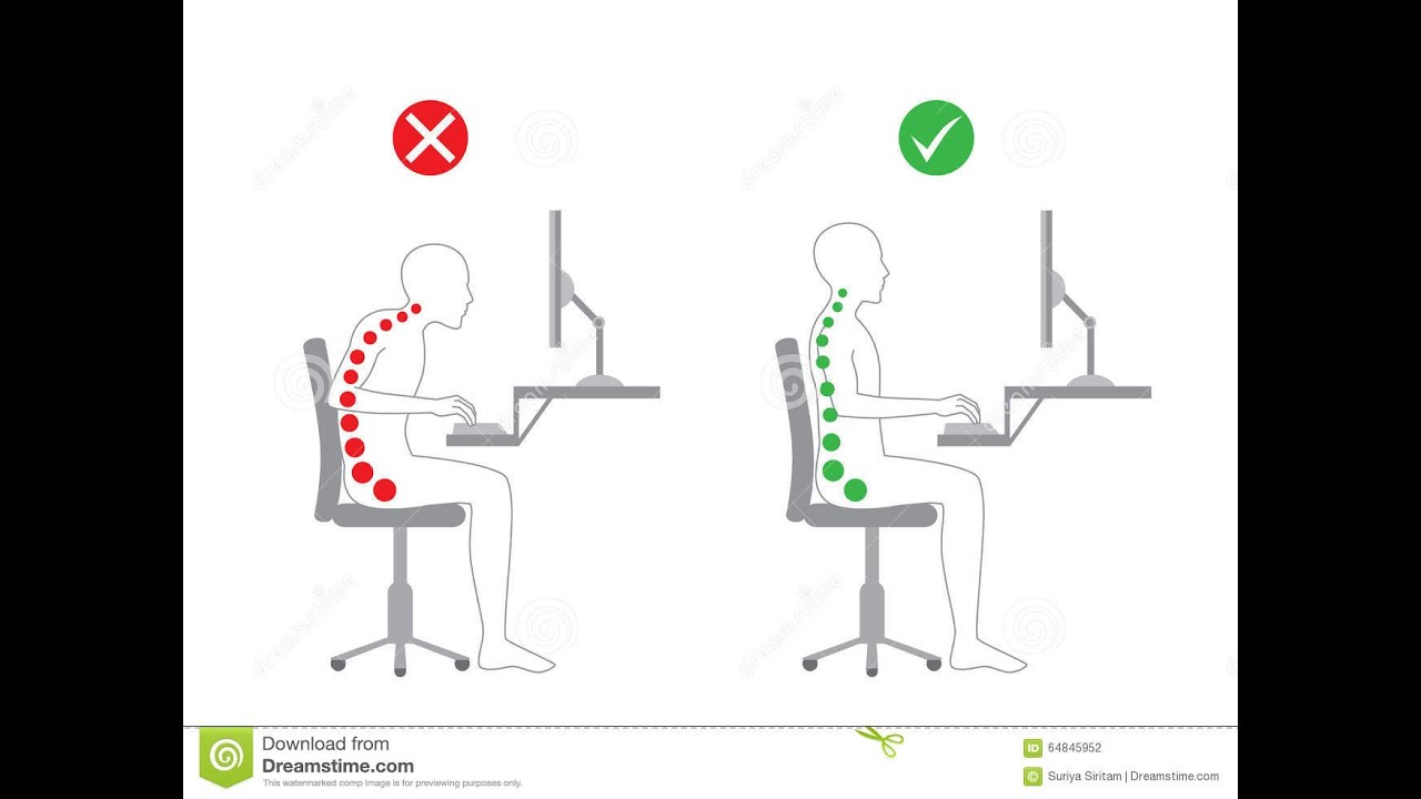 How To Fix Sitting Posture Reduce Lower Back Pain Youtube