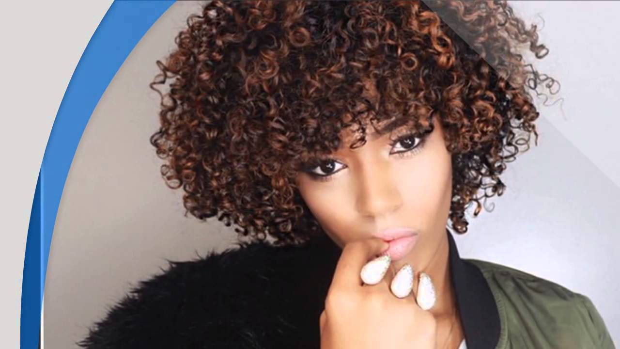 24 Amazing Black Curly Hairstyles For African Amerian Women - YouTube