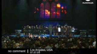 Michael Jackson Funerals in  Staples Center L.A