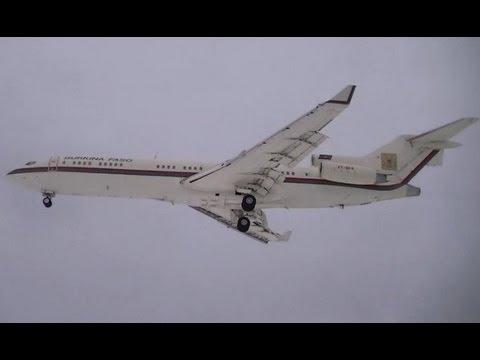 Burkina Faso Boeing 727-282 landing