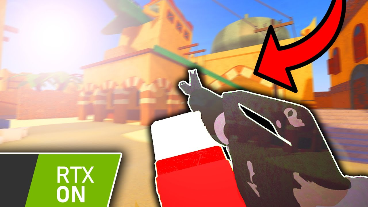 playing arsenal  super realistic graphics roblox