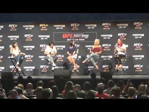 UFC International Fight Week Women of UFC Panel with Cris Cyborg, Joanna, Waterson & VanZant