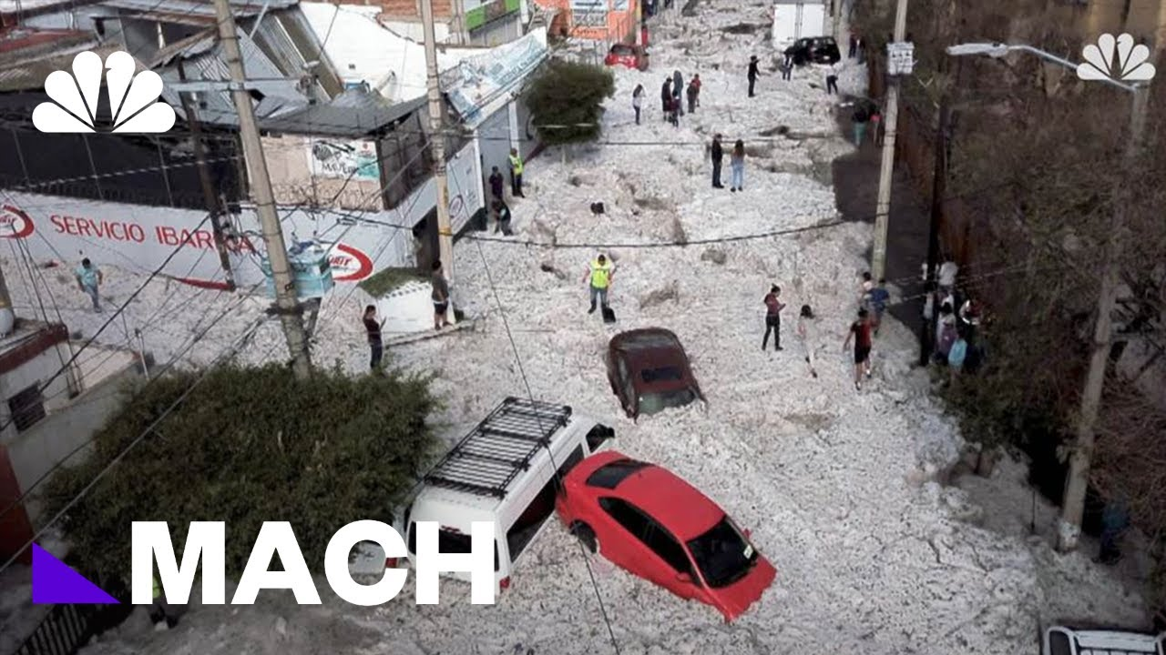 Why Mexico Was Pelted With Hail On The Last Day Of June | Mach | NBC News