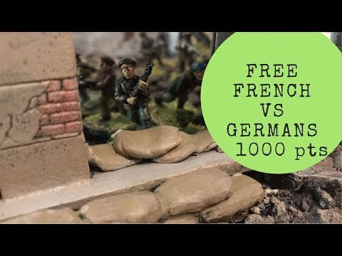 Bolt Action AAR: Key Positions, Free French vs Germans, 1000 pts,