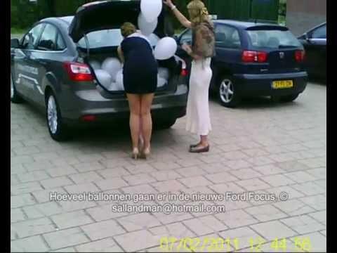 Juli-02-2011 Hoeveel ballonnen gaan er in de nieuwe FORD FOCUS
