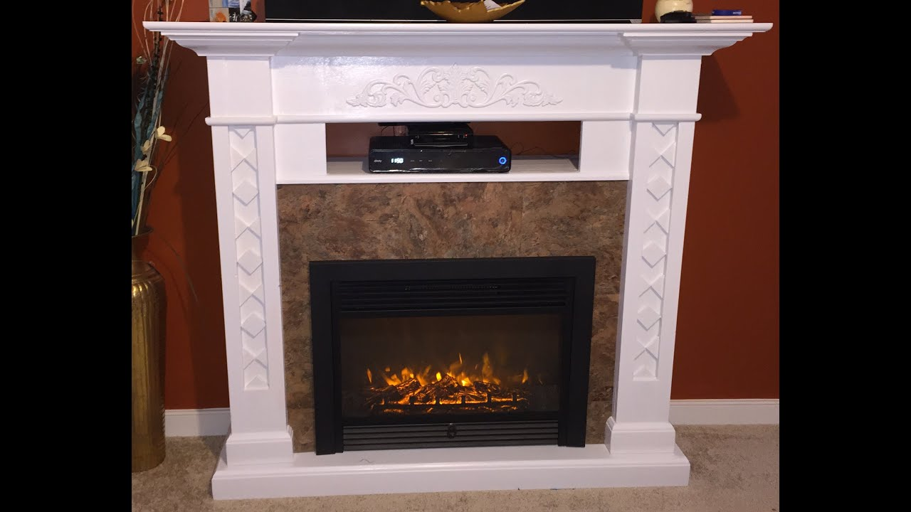 fireplace stone course mantel of tv zo before with gas sweet plasma brown diy marble and beforenafter