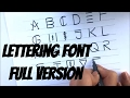 Upper case Lettering Font | Easy Step by step guide | Font - 2