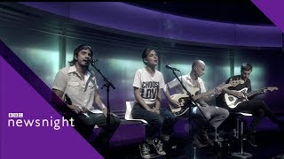 Wolf Alice sing Space & Time - BBC Newsnight