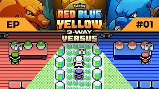 LET'S DEW THIS! | Pokemon Red / Blue / Yellow #3WayVersus EP01