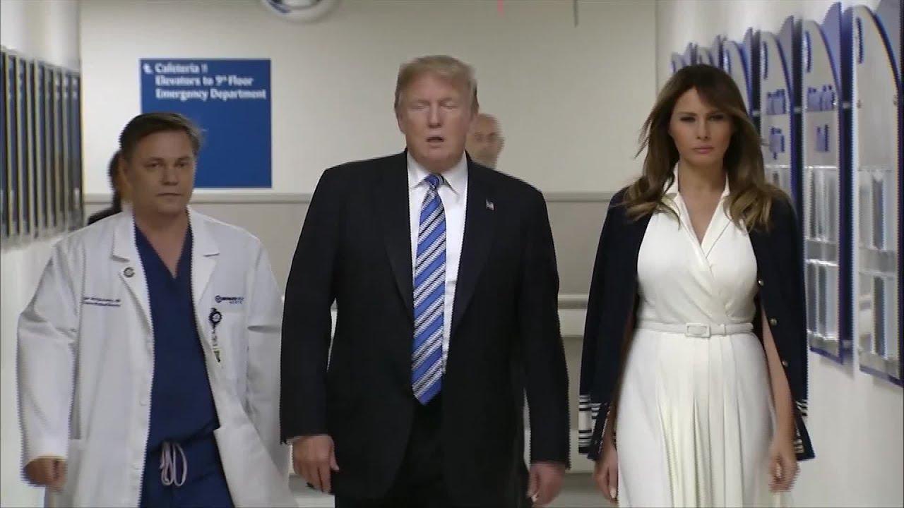 Trump Visits Hospital, Meets Shooting Survivors