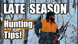 How to HUNT in LATE SEASON 🦌 (9 TIPS to get a BUCK!)
