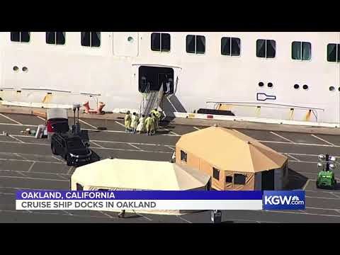 Watch: Grand Princess cruise ship makes its way to Port of Oakland
