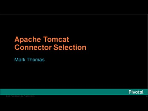 Apache Tomcat Connector Selection