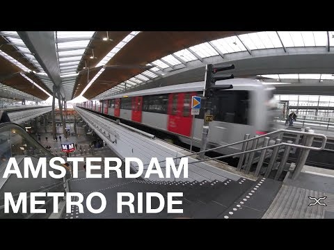 Riding the Amsterdam Metro and Train from Holendrecht to Cen