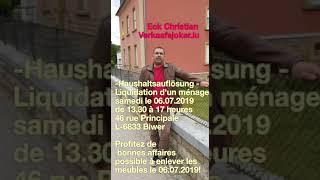 Verkaafsjoker.lu : Haushaltsauflösung in Biwer 6.7.2019