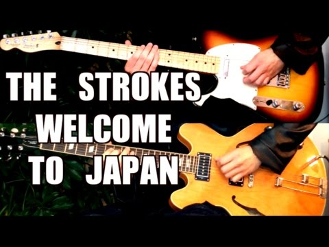 Welcome To Japan - The Strokes ( Guitar Tab Tutorial & Cover )