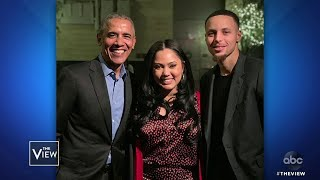 """The """"family food fight"""" host discusses her marriage to nba player steph curry, diverse heritage and when joe biden visited restaurant.more from 'the ..."""