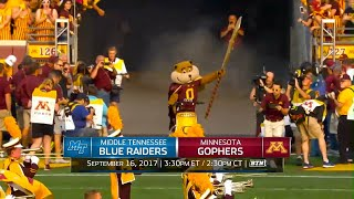 Week 3 Preview: Middle Tennessee at Minnesota