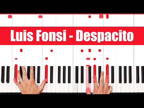 Despacito Luis Fonsi Piano Tutorial - ORIGINAL+VOCAL