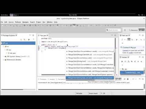 Starting mongodb server and connecting java program to mongodb!!