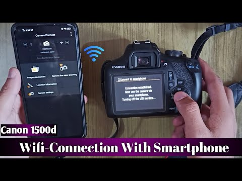 How to connect canon wifi camera to mobile | transfer images to Smartphone|Canon 1500d
