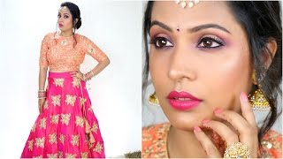 #GRWM for My Cousins Wedding  - Makeup, Hair & Outfit | ShrutiArjunAnand
