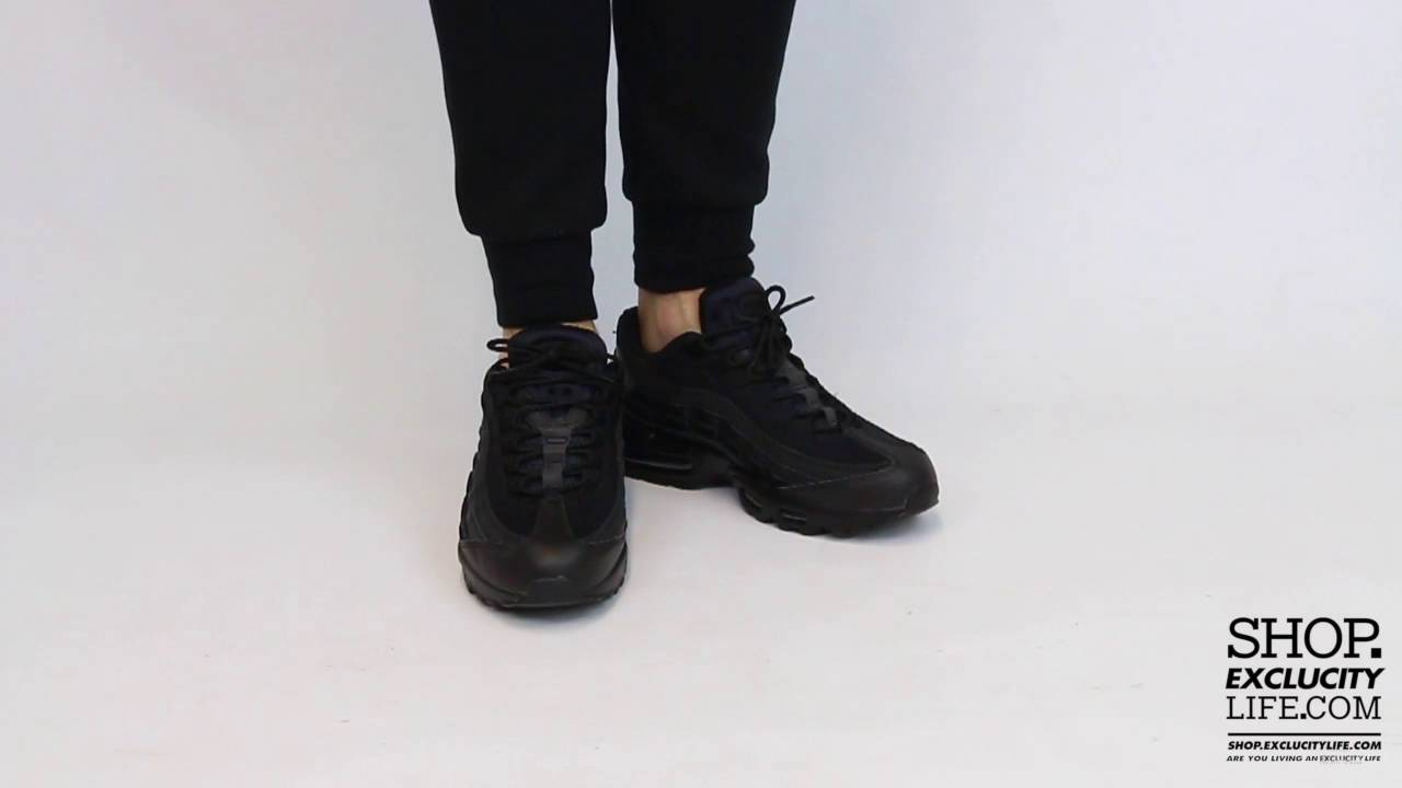 new style 58836 9f00b ... italy nike air max 95 essential triple black on feet video at exclucity  youtube 65ab1 76a16