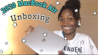 NEW 2020 MacBook Air * Silver+ 13 inch* unboxing & Set up