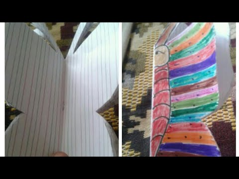 DIY butterfly diary ||from old notebook