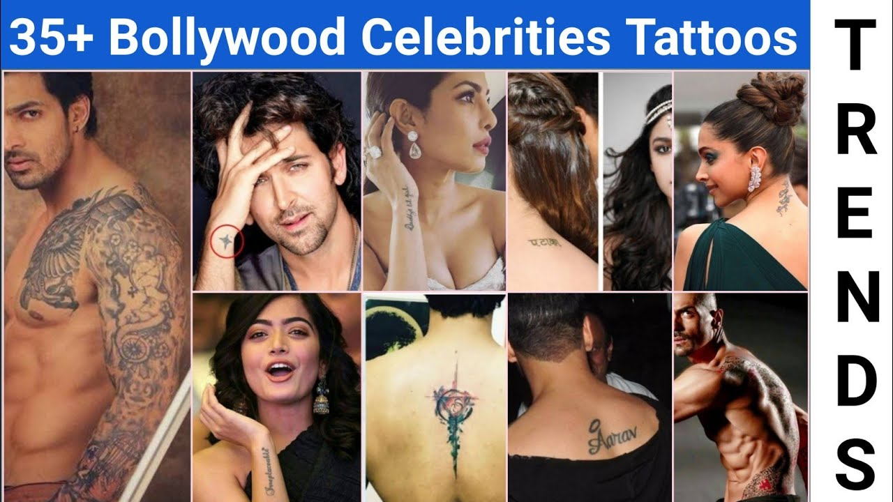 Top bollywood celebrities tattoos | actors actresses tattoos | bollywood stars tattoos
