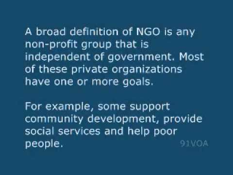 [91VOA]Non-Governmental Organizations Influence Policy Around the World