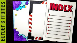 2 minutes | Border designs on paper | border designs | project work designs | borders for projects