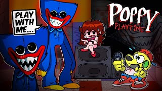 Friday Night Funkin but HUGGY WUGGY wants to PLAY... (Poppy Playtime) FNF Mods #93