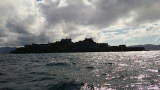 世界文化遺産 軍艦島眺望  World Cultural Heritage warship Island view