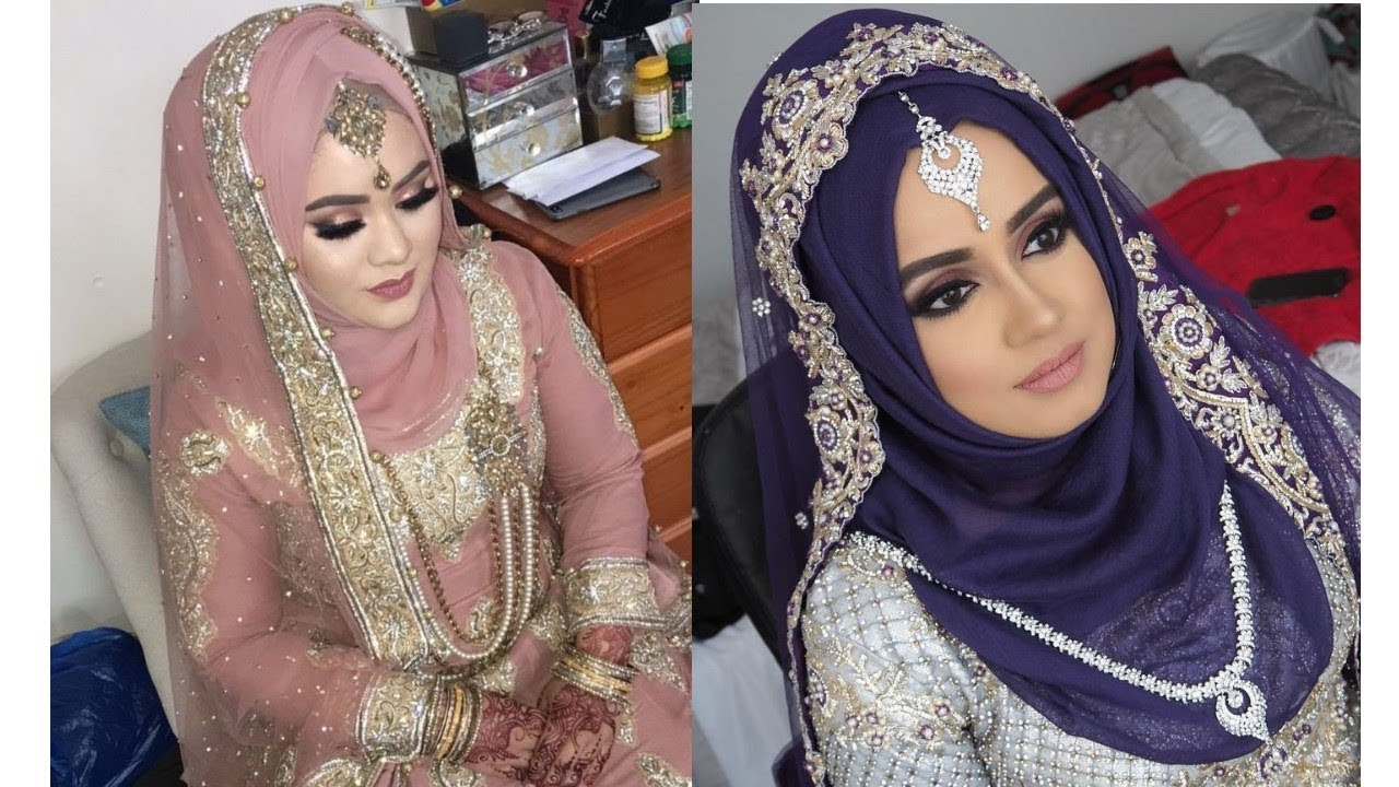 Wedding Hijab style 2018// Bride hijab ideas