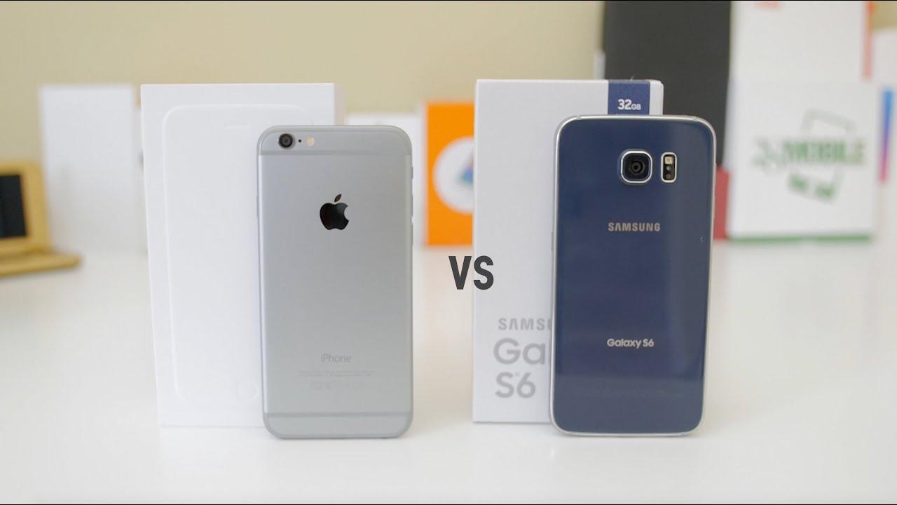 Samsung Galaxy S6 vs iPhone 6: Comparison