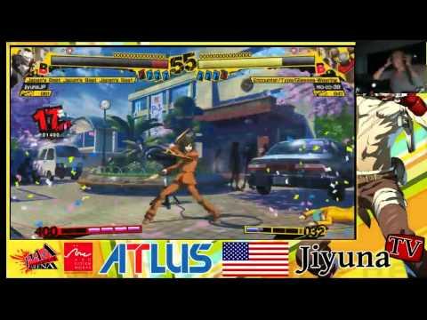 Persona 4 Arena - Jiyuna (Narukami) VS mo-co-39 (Yosuke) [Part 1/2]